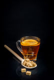 Breakfast with tea and biscuits Stock Images