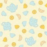 Breakfast tea pattern. Vector EPS 10 hand drawn seamless pattern vector illustration