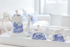 Breakfast Tea. Service on a tray Royalty Free Stock Photography