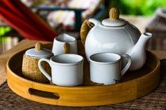 Breakfast tea set I royalty free stock photography