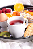 Breakfast with teacup Royalty Free Stock Photo