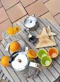 Breakfast on terrace Royalty Free Stock Photos