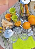 Breakfast on terrace Stock Photography