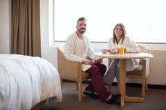 Breakfast on their honeymoon Stock Photos