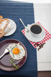 Breakfast theme with kitchen stuff. Colorful breakfast theme, morning concept stock images