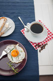 Breakfast theme with kitchen stuff. Colorful breakfast theme, morning concept royalty free stock photos