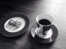 Breakfast. There My really delicious breakfast royalty free stock photography