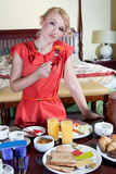 Breakfast time Royalty Free Stock Photography