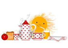 Free Breakfast Time Royalty Free Stock Photo - 6000815