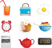 Breakfast time royalty free illustration