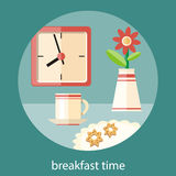 Breakfast time concept Stock Photos