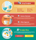 Breakfast time concept icons Stock Photography