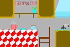 Breakfast time in the kitchen illustration stock illustration