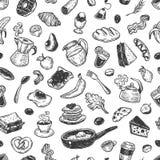 Breakfast Time, Pattern. royalty free illustration
