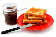 Breakfast with toast and coffee Royalty Free Stock Photography