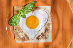 Breakfast with toast and eggs Stock Images