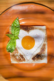 Breakfast with toast and eggs Stock Photos