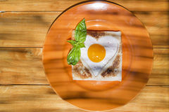 Breakfast with toast and eggs Stock Photo