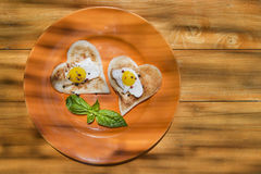 Breakfast with toast and eggs Royalty Free Stock Photos