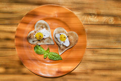 Breakfast with toast and eggs Stock Photography