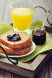 Breakfast with toast Stock Images