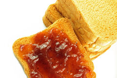 Breakfast with toast and jam Stock Photography
