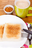 Breakfast with toast Stock Image
