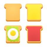 Breakfast toast set Royalty Free Stock Photos