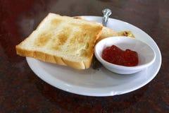 Breakfast of toast Stock Photo