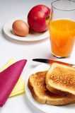 Breakfast with toasted bread Stock Photos