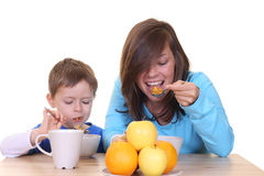 Breakfast together Stock Photography