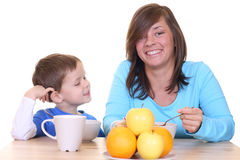 Breakfast together Stock Photo