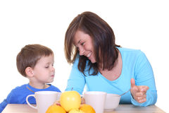 Breakfast together Royalty Free Stock Photography