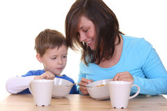 Breakfast together Royalty Free Stock Photos