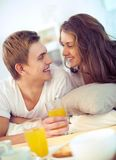 Breakfast together Royalty Free Stock Images
