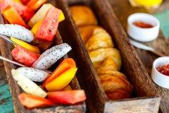 Breakfast top view Stock Image