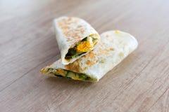 Breakfast tortilla with egg Stock Photos