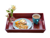 Breakfast  tray Royalty Free Stock Image