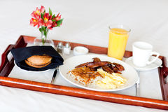 Breakfast on the tray Stock Photos