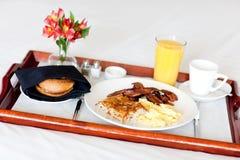 Breakfast on the tray stock photos