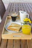 Breakfast tray Stock Images