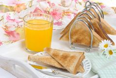Breakfast Tray Royalty Free Stock Photos
