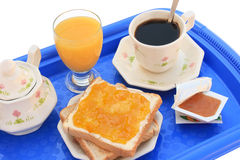 Breakfast tray (clipping path) Stock Photos