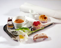 Breakfast tray coffee Royalty Free Stock Image