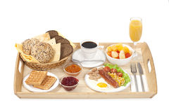 Breakfast tray Royalty Free Stock Photo