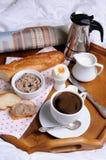 Breakfast on a tray Royalty Free Stock Photos
