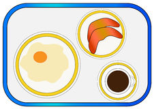 Breakfast on tray Royalty Free Stock Images