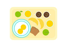 Breakfast on tray Stock Photos
