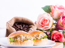 Breakfast tuna sandwich Stock Images