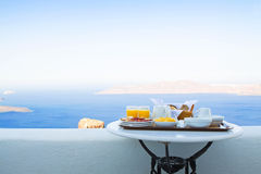 Breakfast for Two with a View Stock Image
